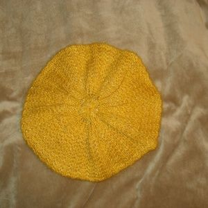 Gold/Yellow Slouch Beret Hat